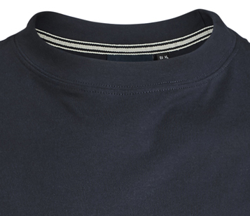 Detail Image to T-shirt in dark blue by North56°4 in plus sizes until 8XL