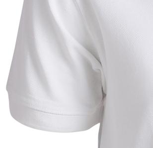 Image de détail de Polo piqué blanc de Greyes/North 56°4 en grandes tailles jusqu'au 8XL