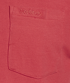 Detail Image to Polo shirt in red by Greyes/ North 56°4 up to oversize 8XL