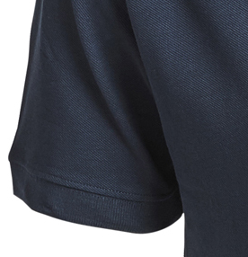 Detail Image to Pique poloshirt in navy by Greyes/North 56°4 in extra large sizes up to 8XL