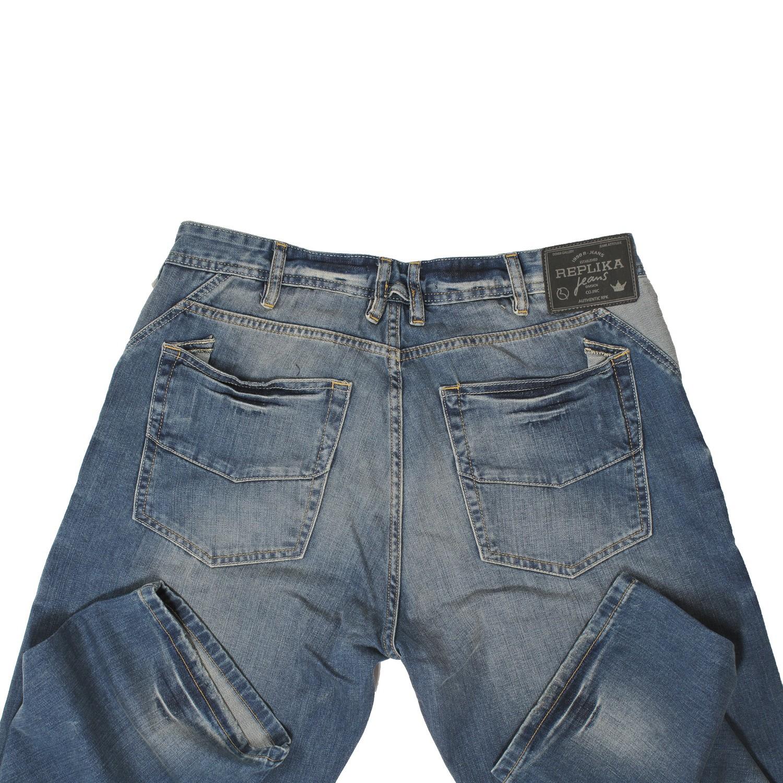 Detailbild zu Blaue Jeans Hose von Replika / Großen Größen 40/34