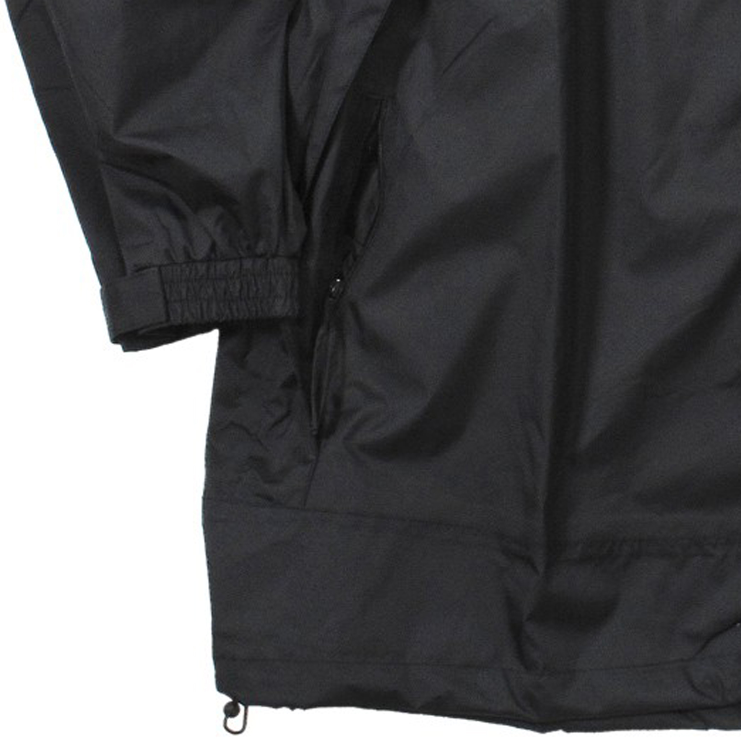 Detail Image to Black rain jacket from Aero in king sizes up to 8 XL