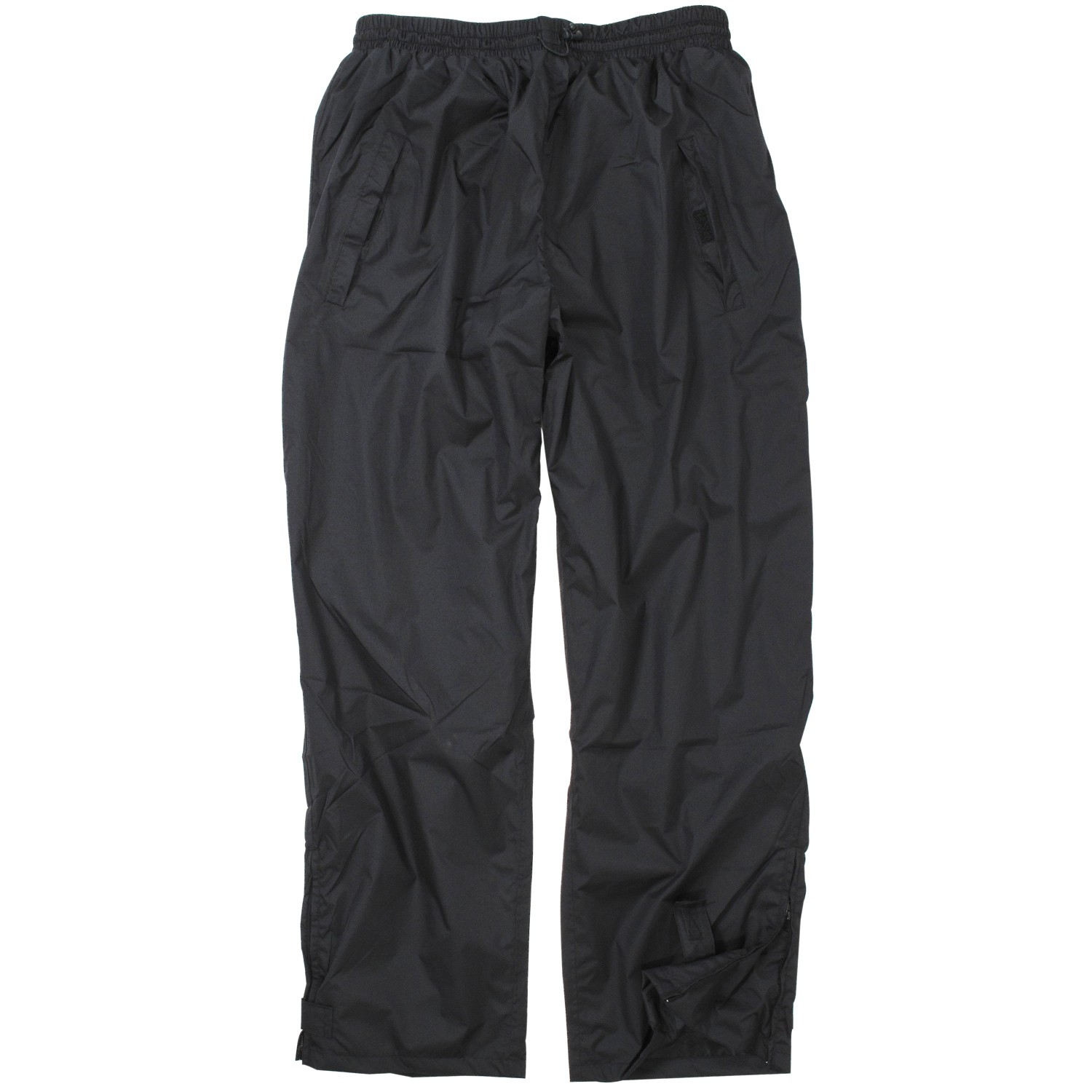Detail Image to Black rain pants by Aero/North 56°4 in king sizes up to 8 XL