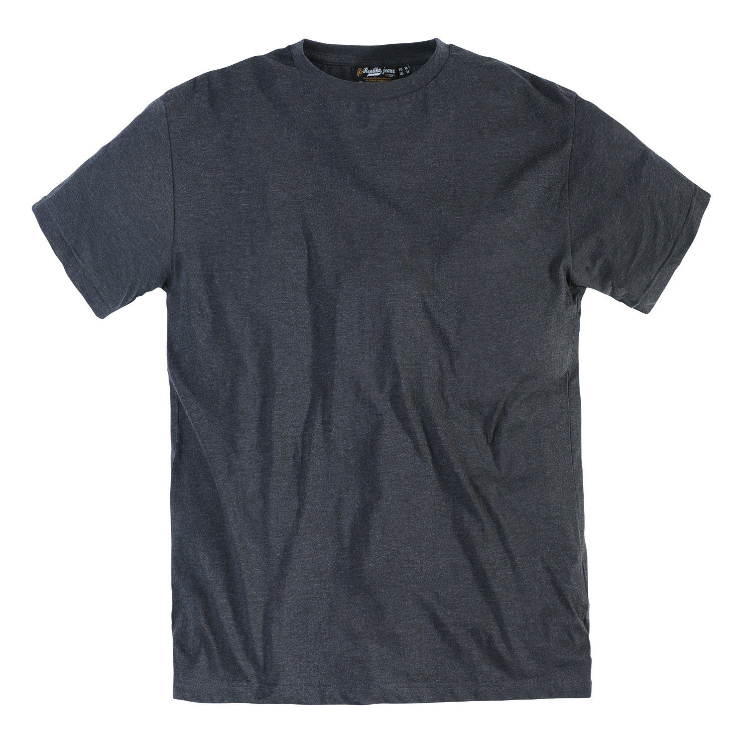 Detail Image to T-Shirt in dark grey melange by Replika in oversizes up to 8XL // double pack
