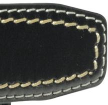 Image de détail de Ceinture noire en cuir de Greyes grandes tailles jusqu'à 180 cm