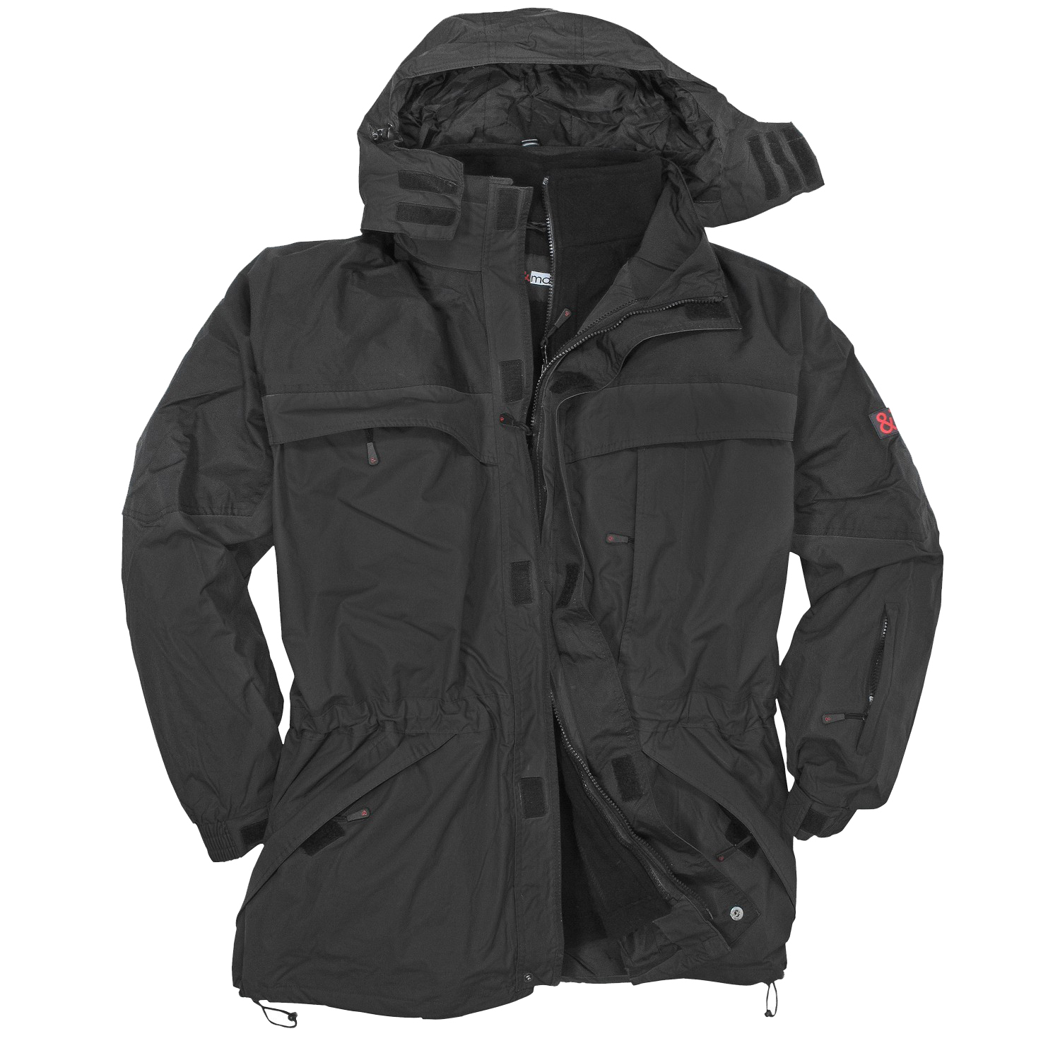 Detail Image to Black 3in1 jacket by marc&mark in extra large sizes until 10XL