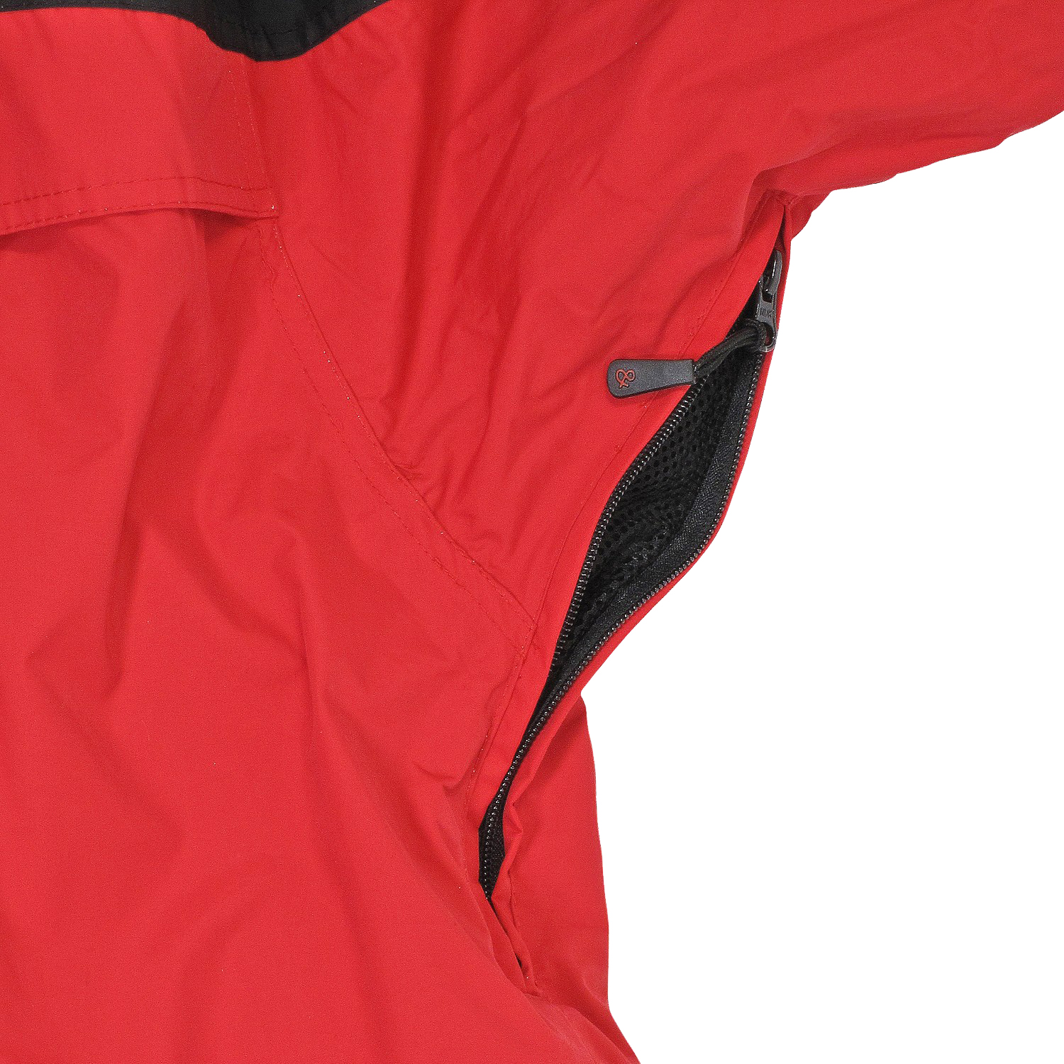 Detail Image to Red 3in1 jacket by marc&mark in oversizes up to 10XL