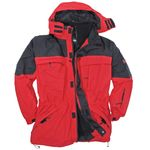 Red 3in1 jacket by marc&mark in oversizes up to 10XL