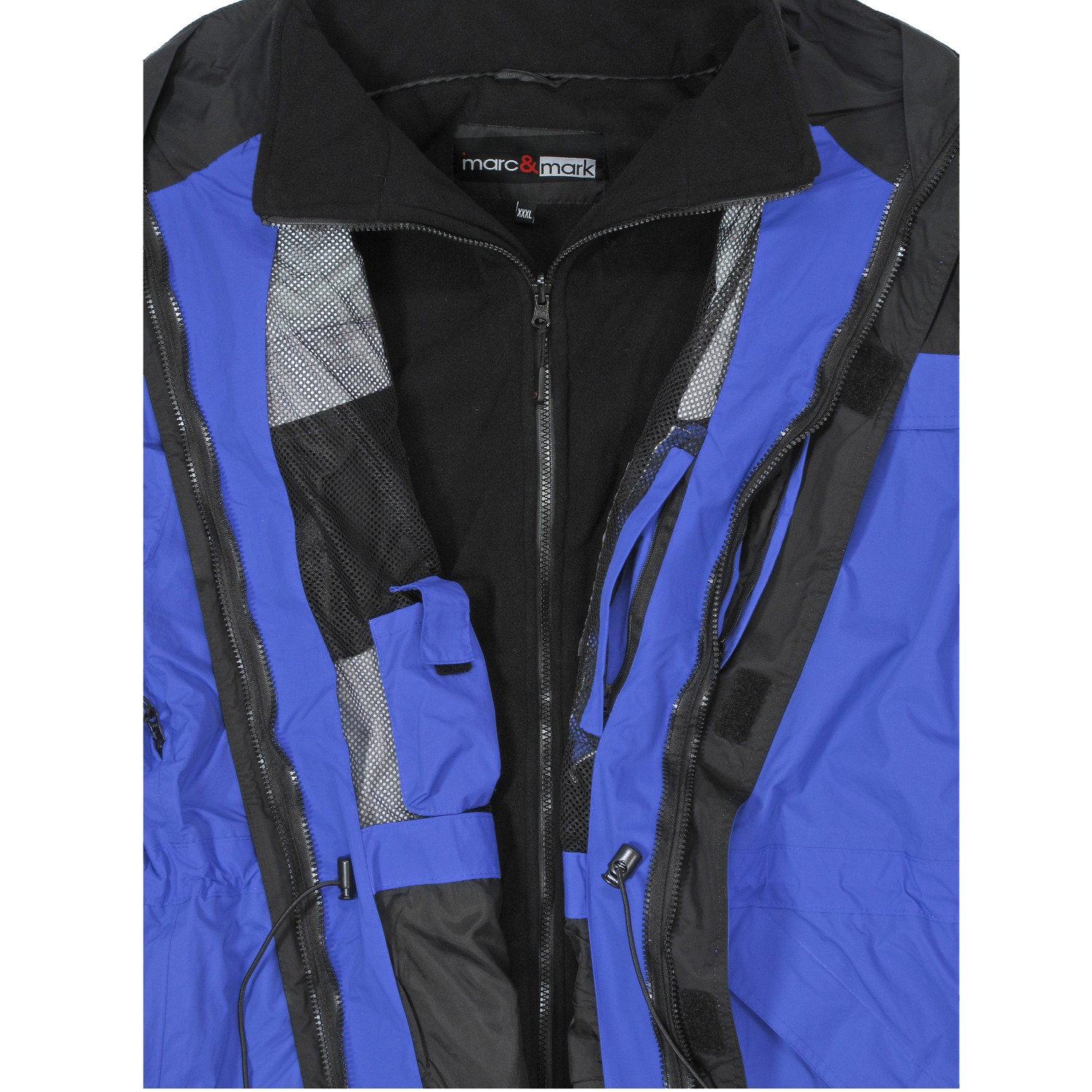 Detail Image to Blue 3in1 jacket by marc&mark in oversizes until 10XL