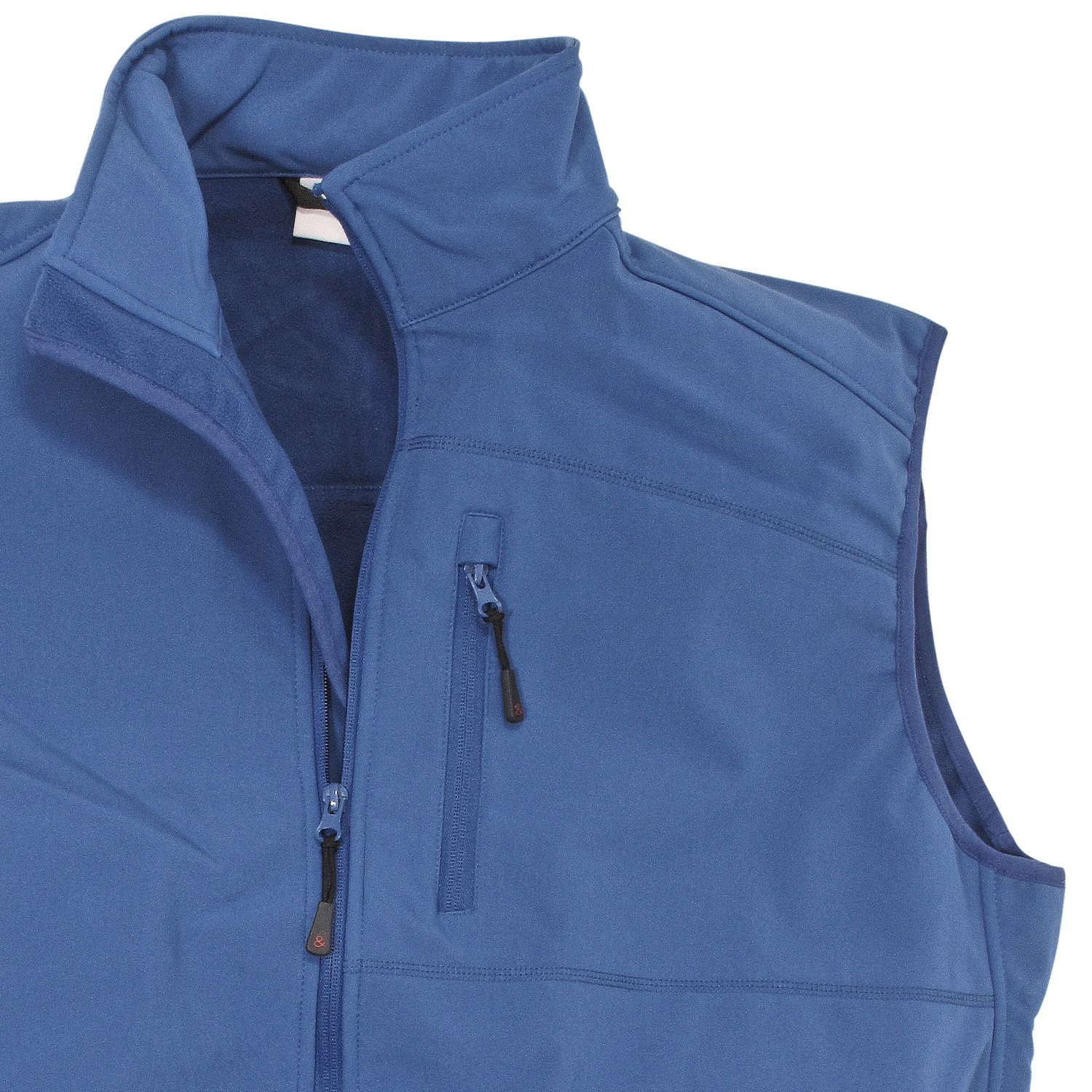 Detail Image to Softshell vest in royal blue by marc&mark in plus sizes up to 10XL