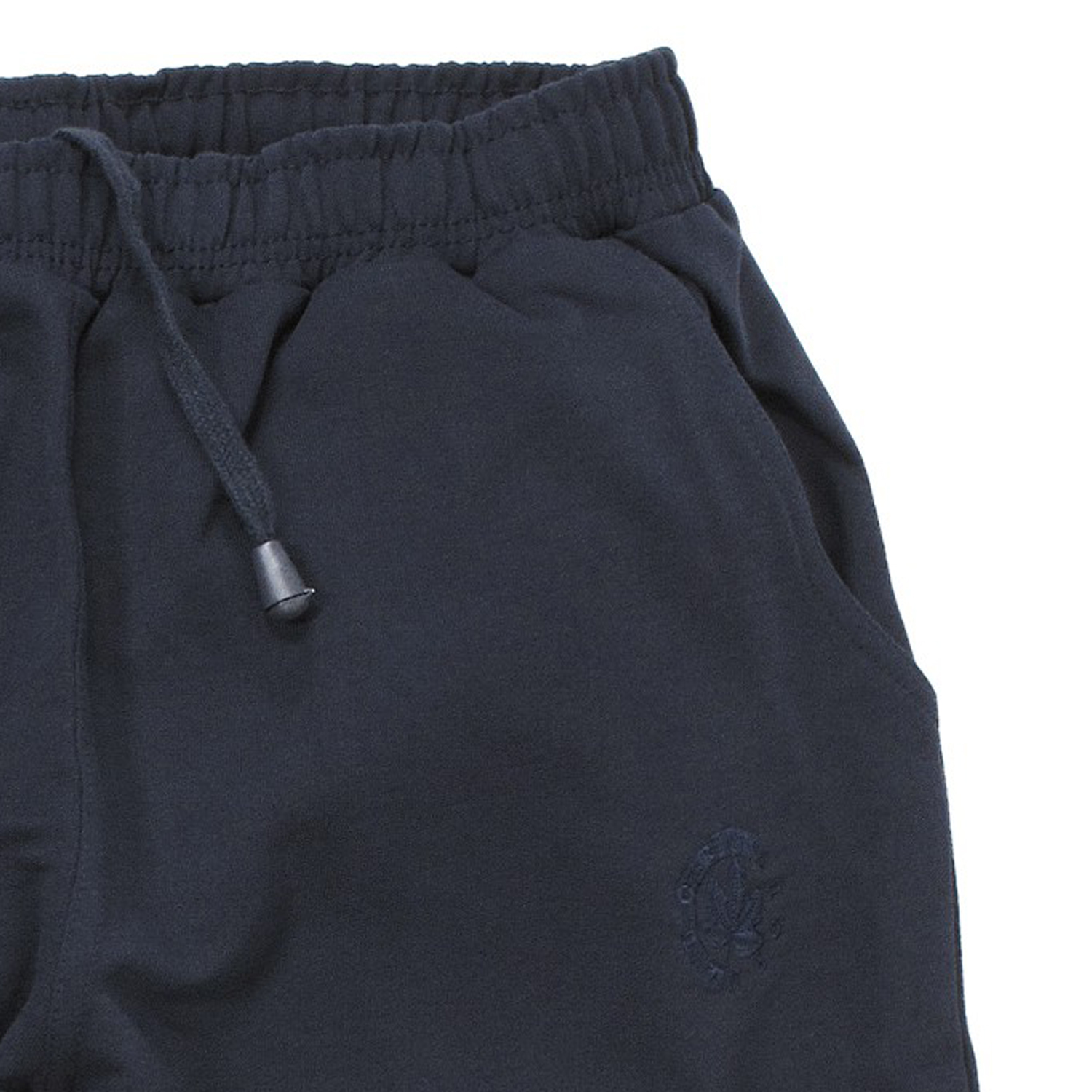 Detail Image to Basic sweat bermuda in dark blue by Ahorn Sportswear in oversizes up to 10XL