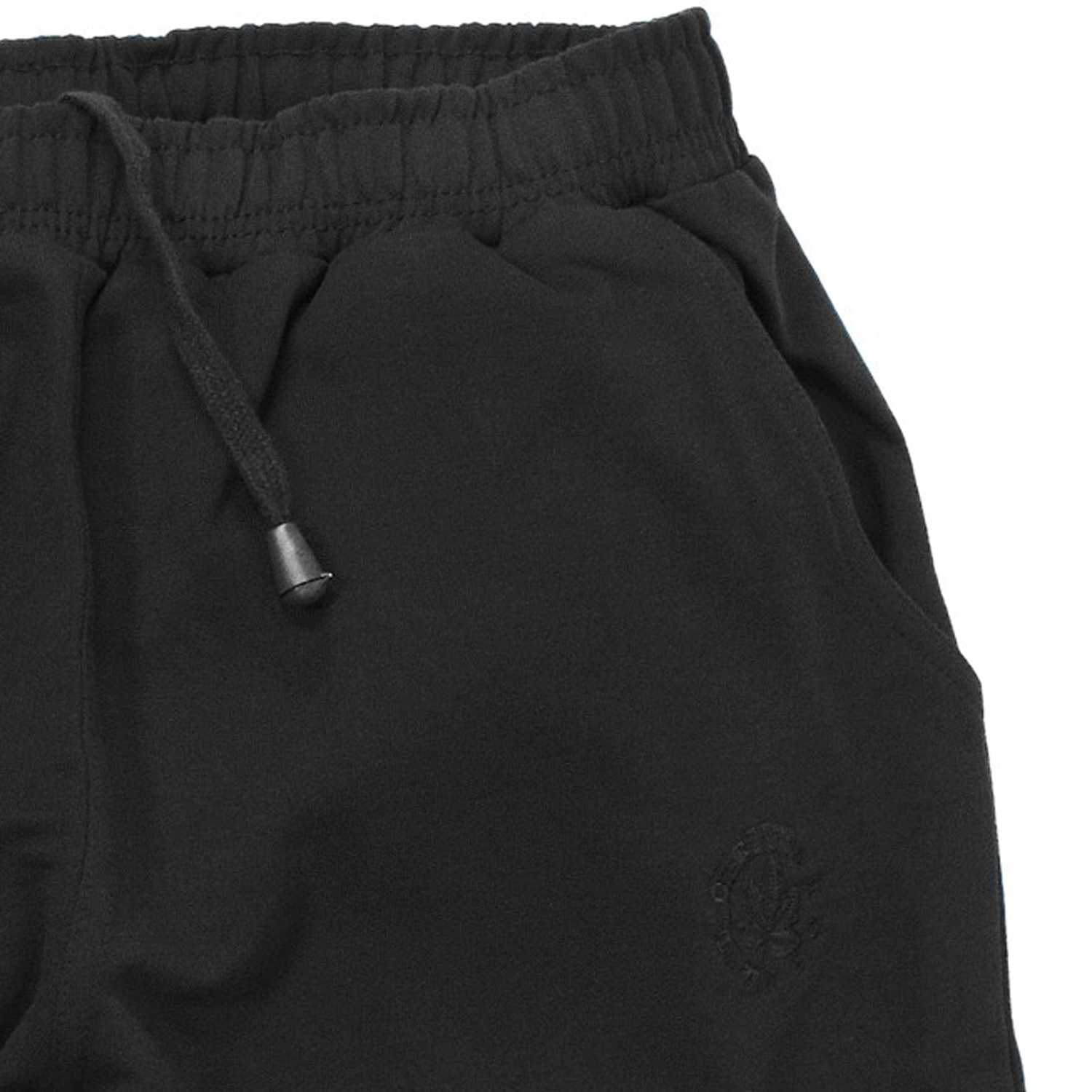 Detail Image to Black Sweat bermuda from Ahorn Sportswear in over sizes up to 10 XL