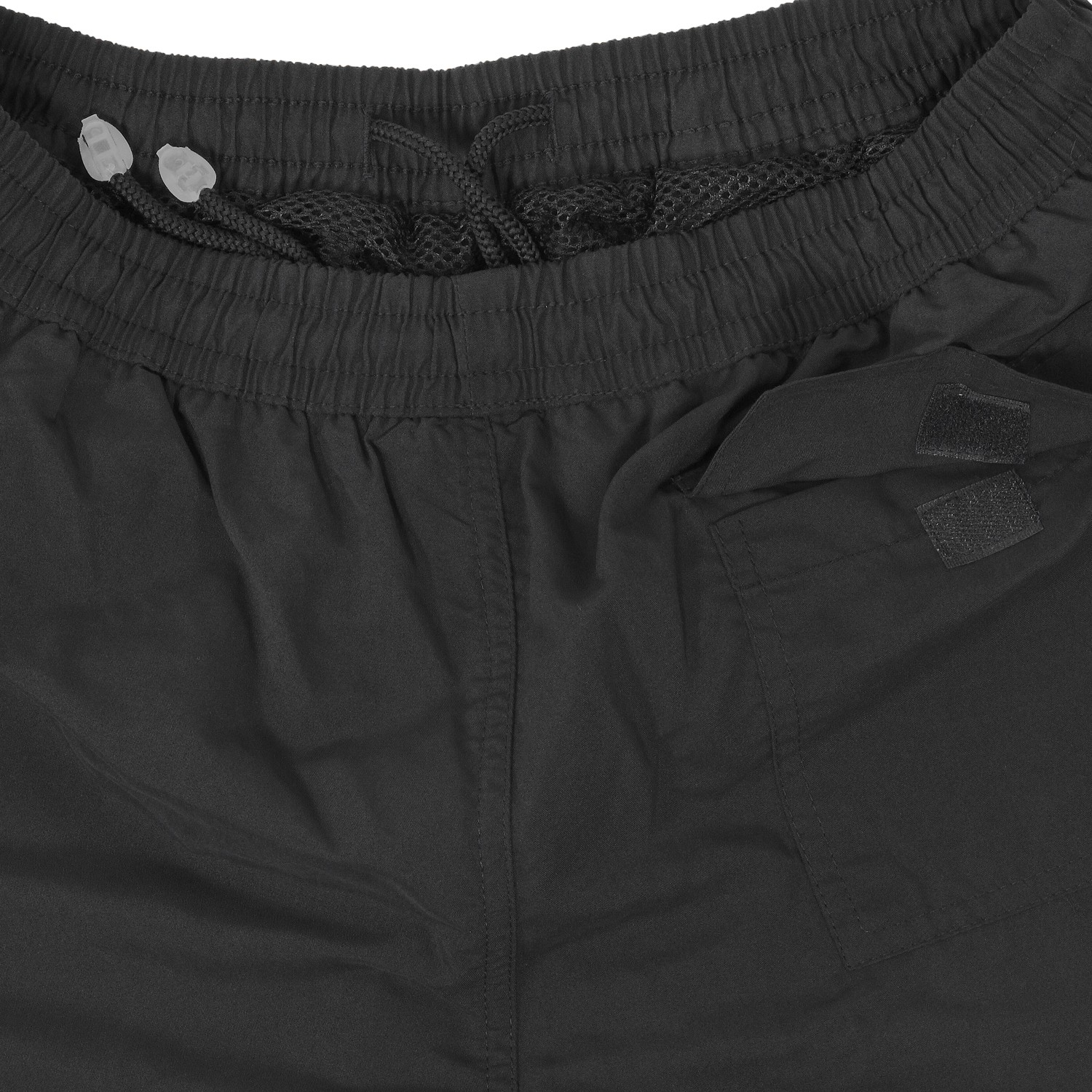 Detail Image to Black sportive microfiber fitness short by Ahorn Sportswear in plus sizes up to 10 XL