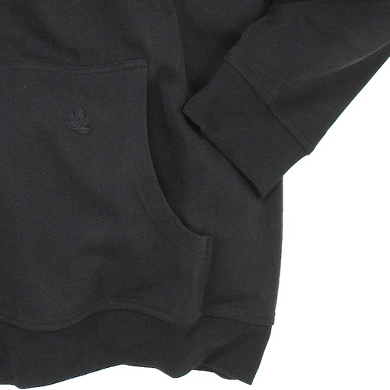 Detail Image to Black hooded sweat by Ahorn Sportswear in king sizes up to 10 XL