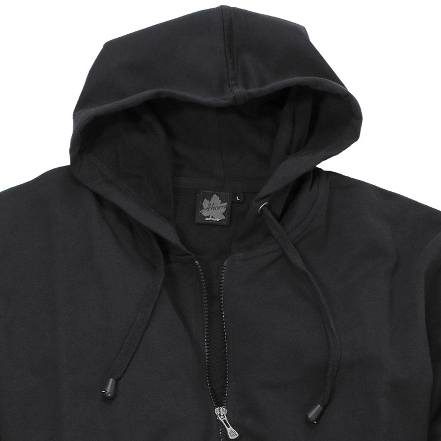 Detail Image to Hooded sweat jacket in black by Ahorn Sportswear up to oversize 10XL