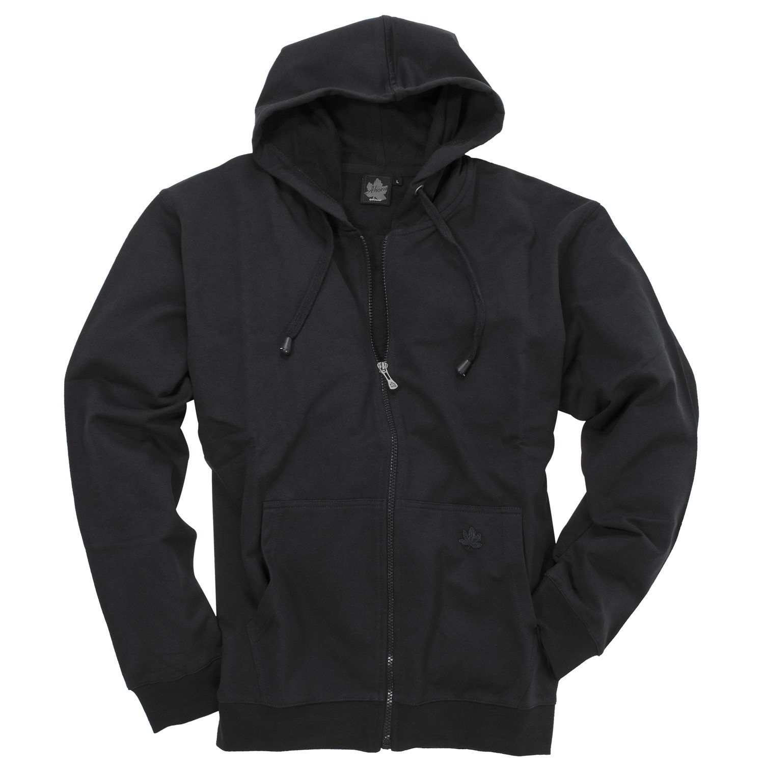 Detail Image to Black hoody jacket from Ahorn Sportswear in extra large sizes until 10 XL