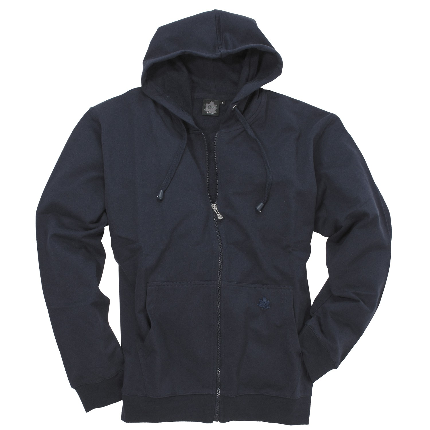 Detail Image to Hooded sweat jacket in dark blue by Ahorn Sportswear up to oversize 10XL
