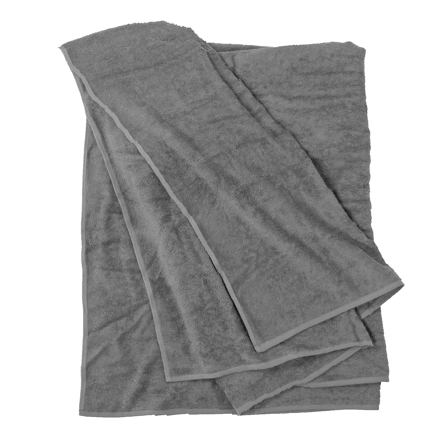 Detail Image to Bath towel in grey by Kapart in large sizes 100x220 cm and 155x220 cm