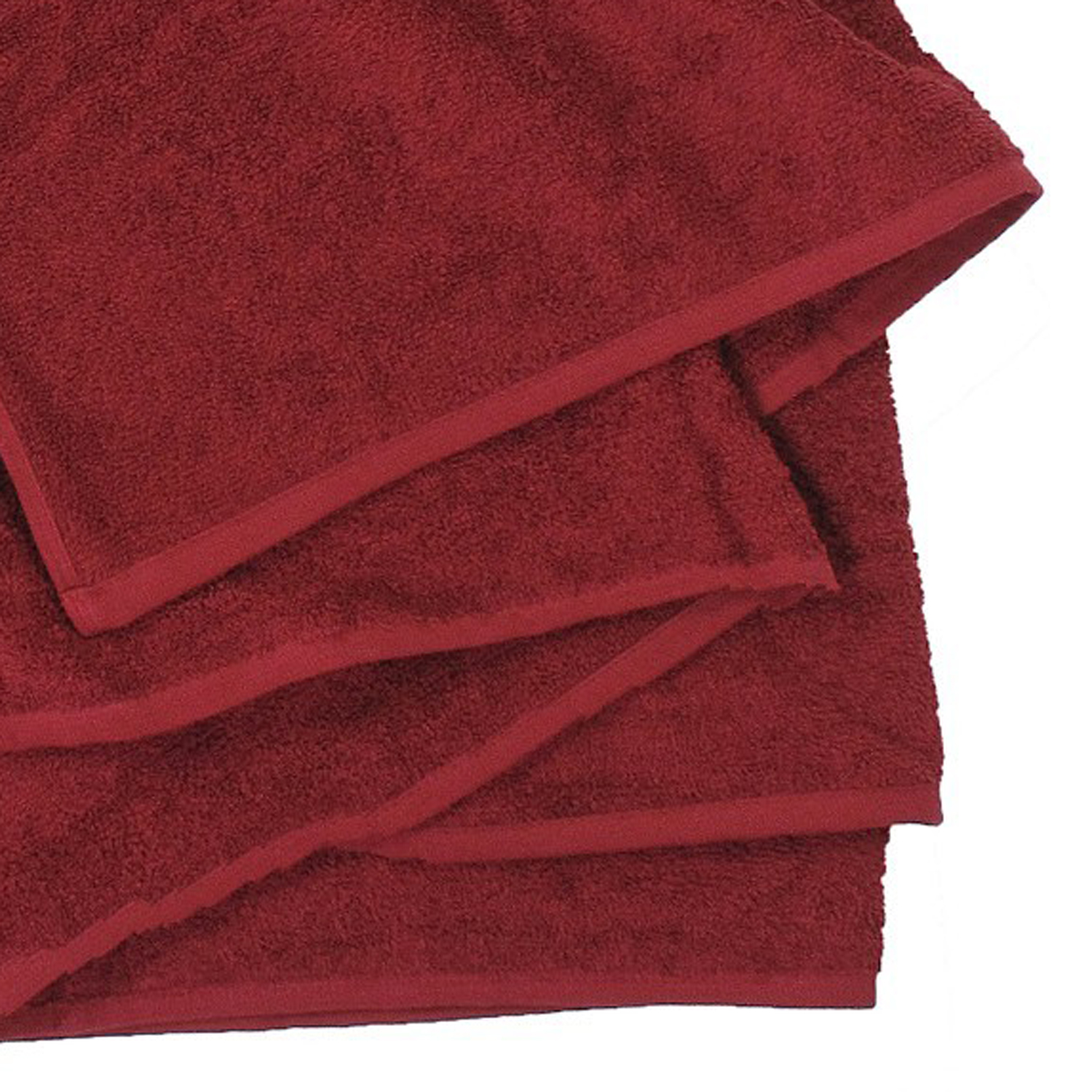 Detail Image to Bath towel in burgundy red by Kapart in large sizes 100x220 cm and 155x220 cm