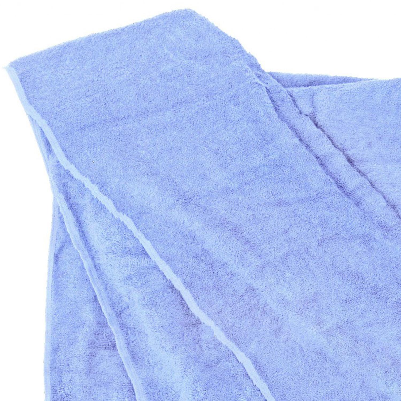 Image de détail de Serviette de bain de Kapart grande taille 100x220cm et 155x220cm / coloris bleu clair