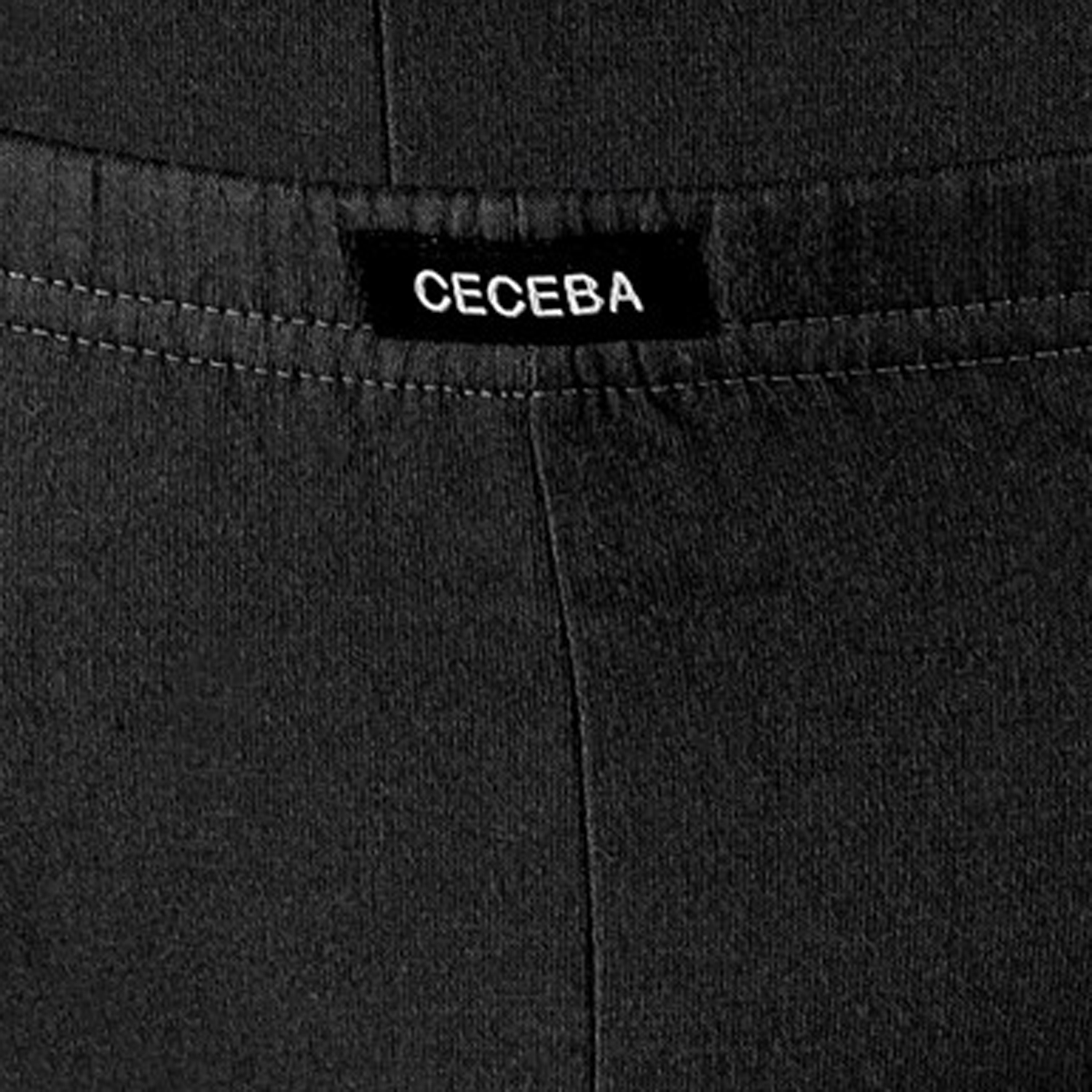 Detail Image to Briefs in black by Ceceba up to oversize 18 / pack of 3