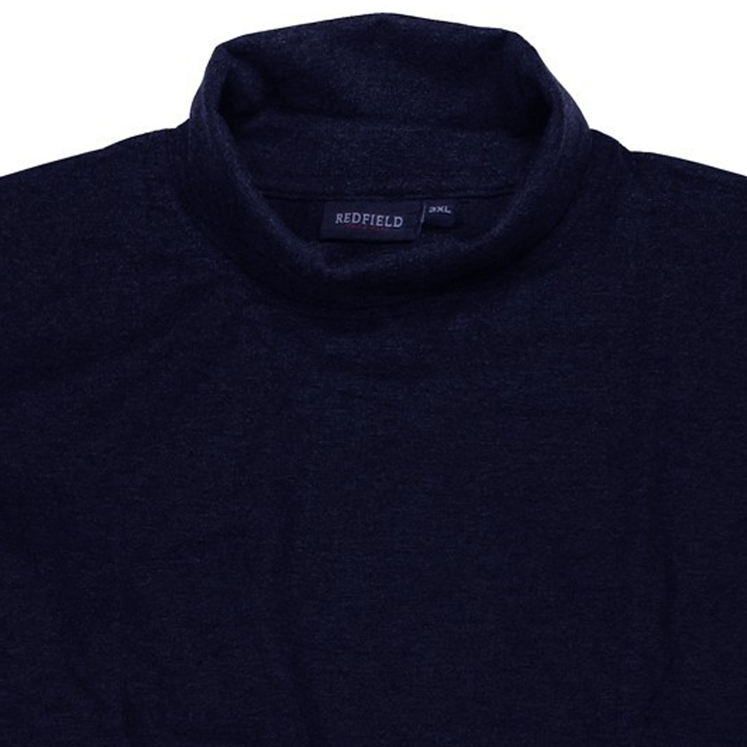 Detail Image to Dark blue polo-neck jersey by Redfield in oversizes up to 6XL
