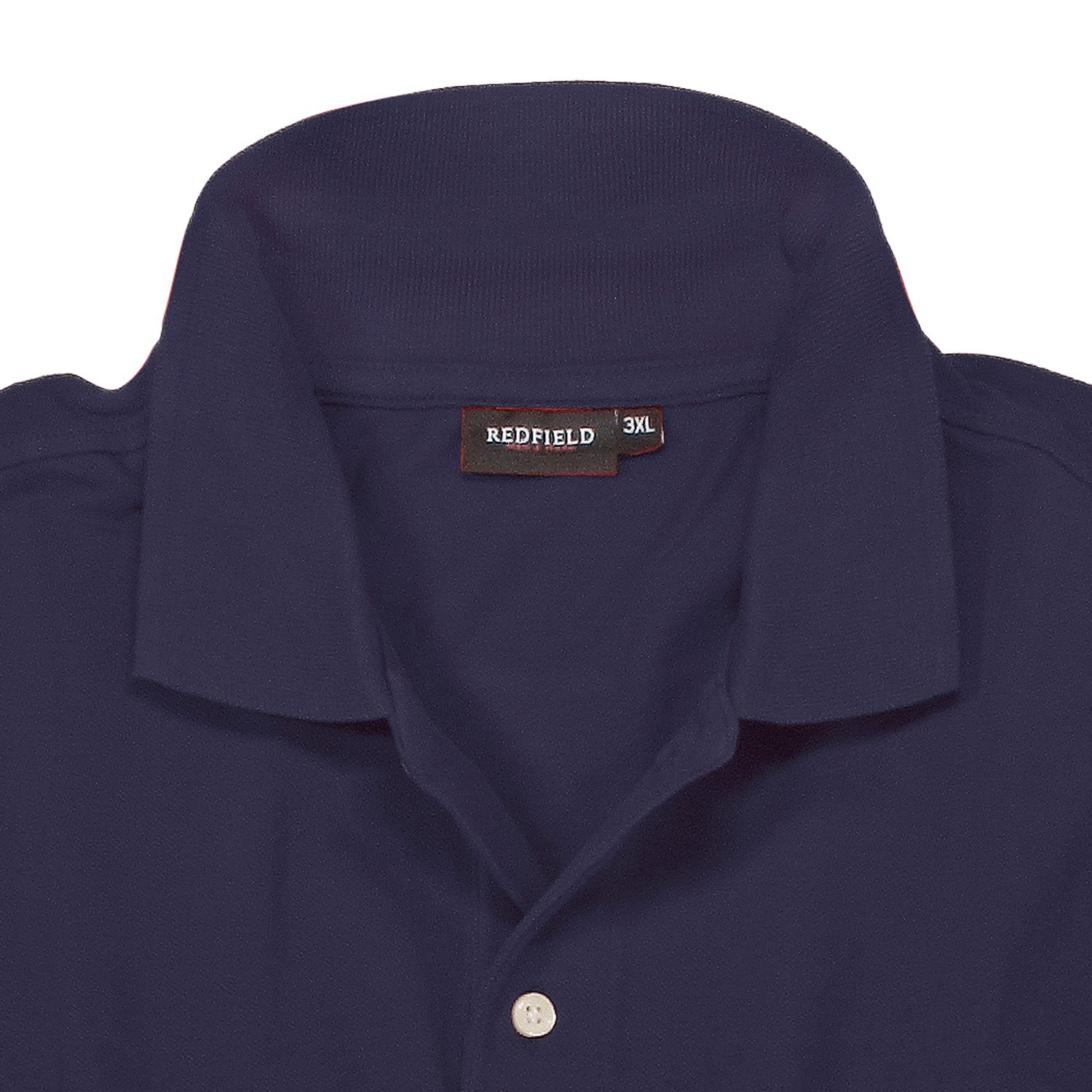 Detail Image to Polo shirt in dark blue by Redfield in extra large sizes until 8XL