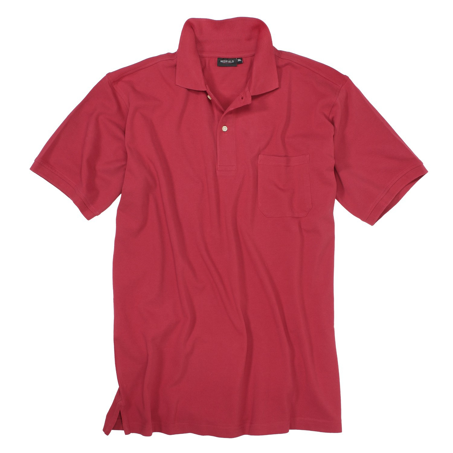Detail Image to Red polo shirt by Redfield in plus sizes until 8XL