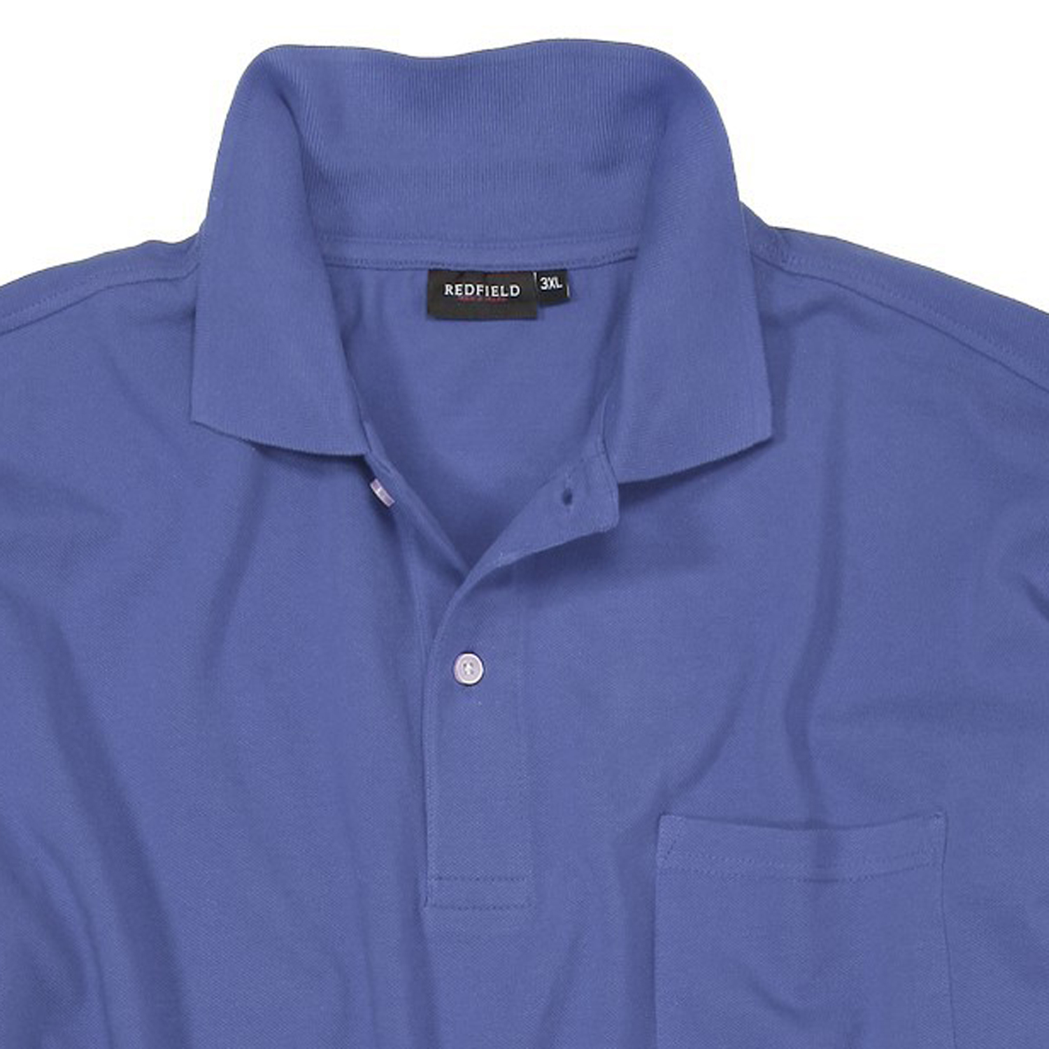 Detail Image to Blue polo shirt by Redfield in oversizes up to 8XL
