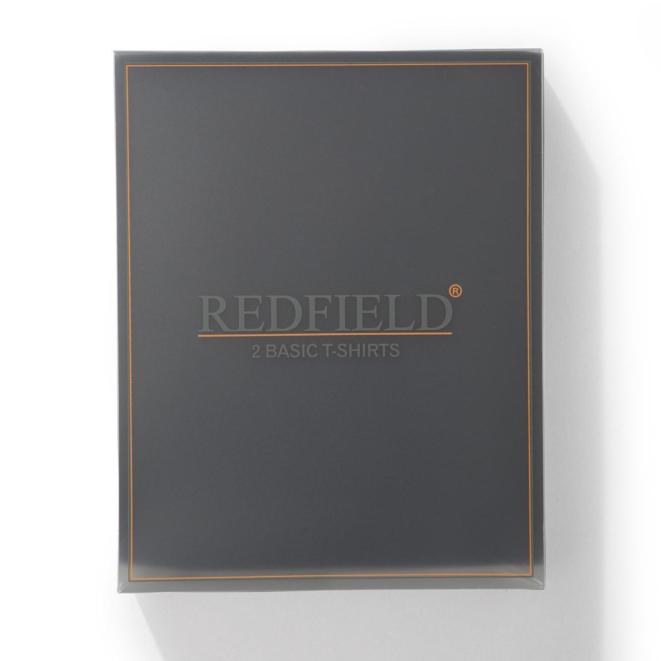 Detailbild zu 2er Pack weiße Rundhals-T-Shirts von Redfield in großen Größen bis 10XL