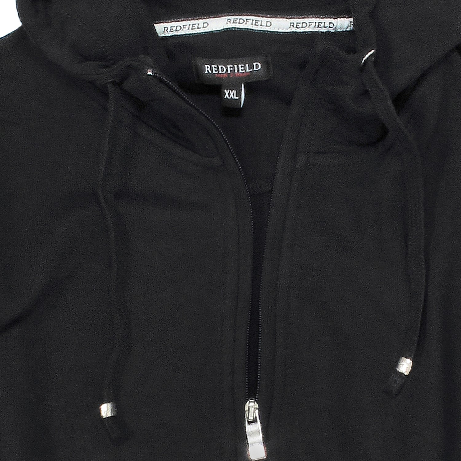 Detail Image to Sweat jacket in black by Redfield up to oversize 10XL