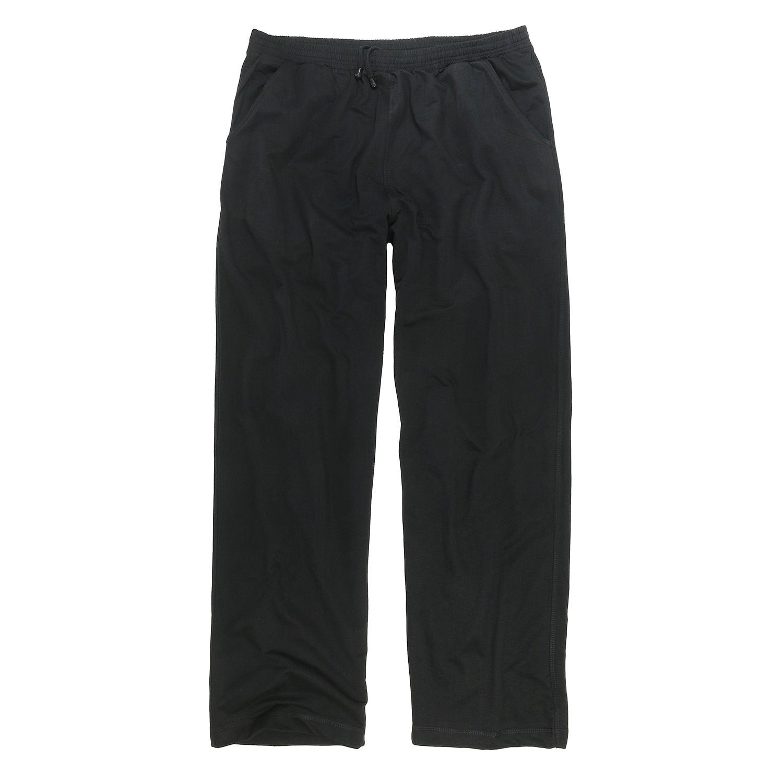 Image de détail de Pantalon de jogging noir de Big-Basics grandes tailles jusqu'au 12XL