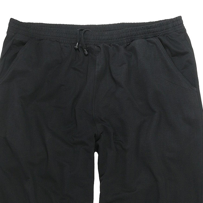 Detailbild zu BigBasics lange Jogginghose in schwarz bis Übergröße 12XL