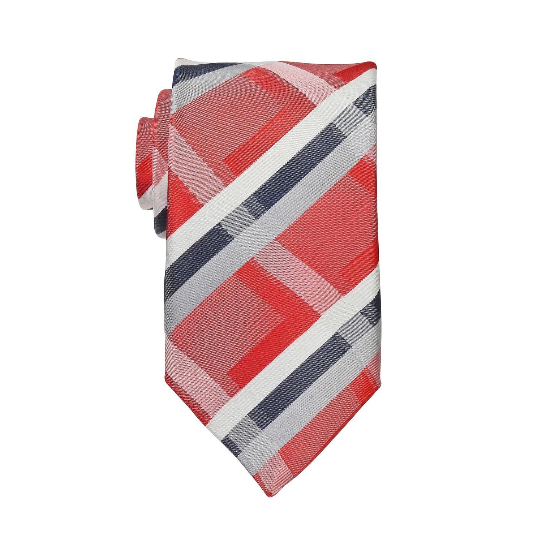 Detailbild zu Rot-weiß karierte Seiden-Krawatte in Überlänge von Ploenes