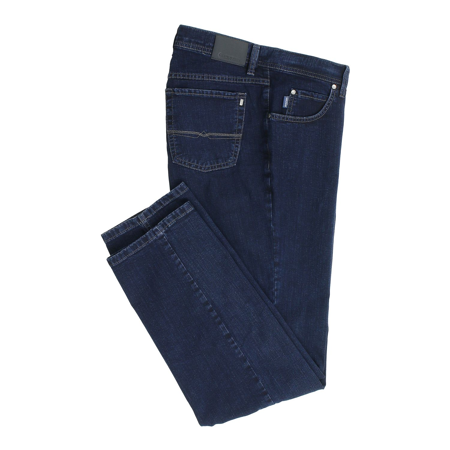 Detail Image to Five-pocket-jeans in dark blue by Pionier in oversizes up to 40, 70 and 85