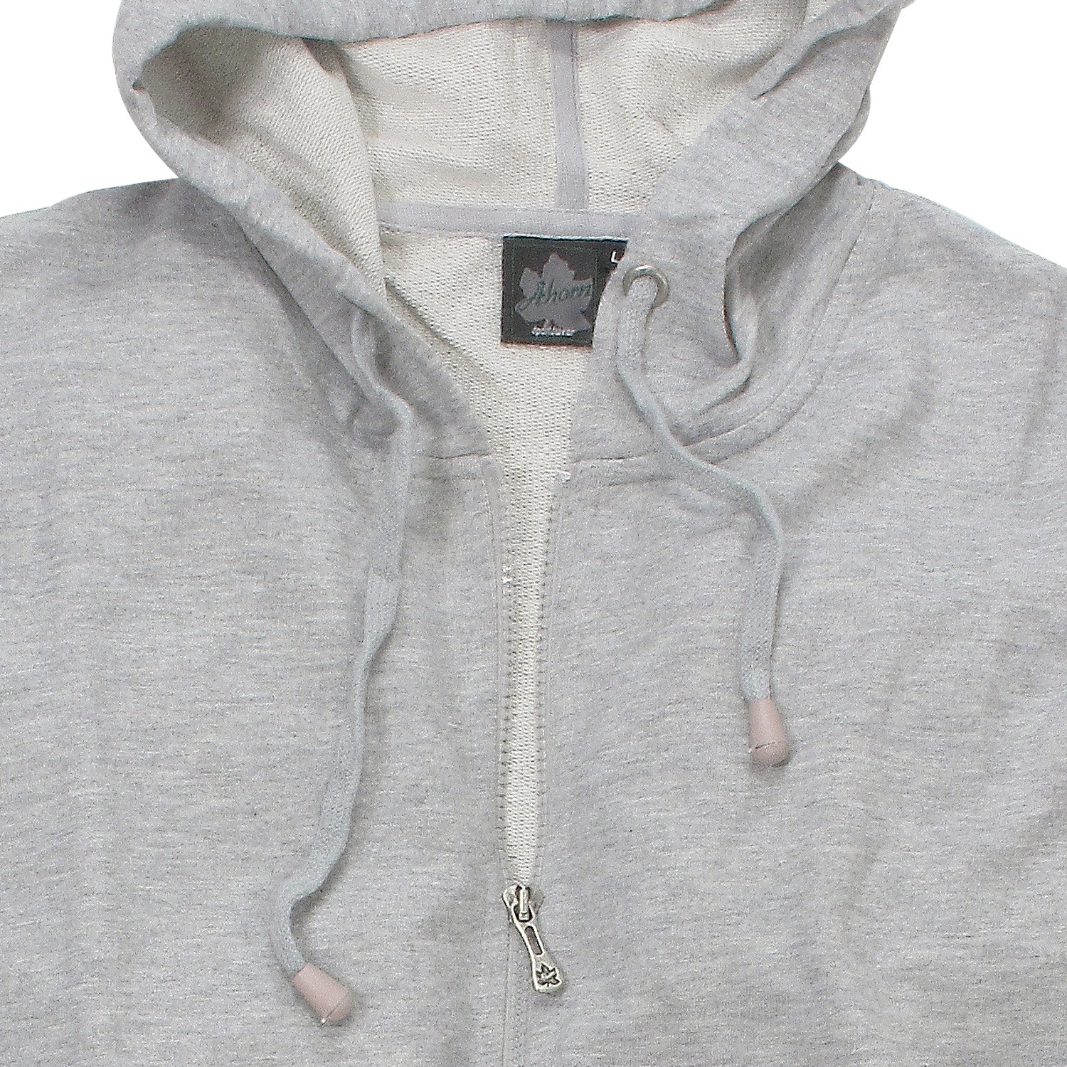 Detail Image to Hooded sweat jacket in grey mottled by Ahorn Sportswear up to oversize 8XL