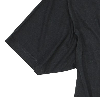 Detail Image to Twin-pack t-shirt in black by Kitaro in plus sizes until 7XL