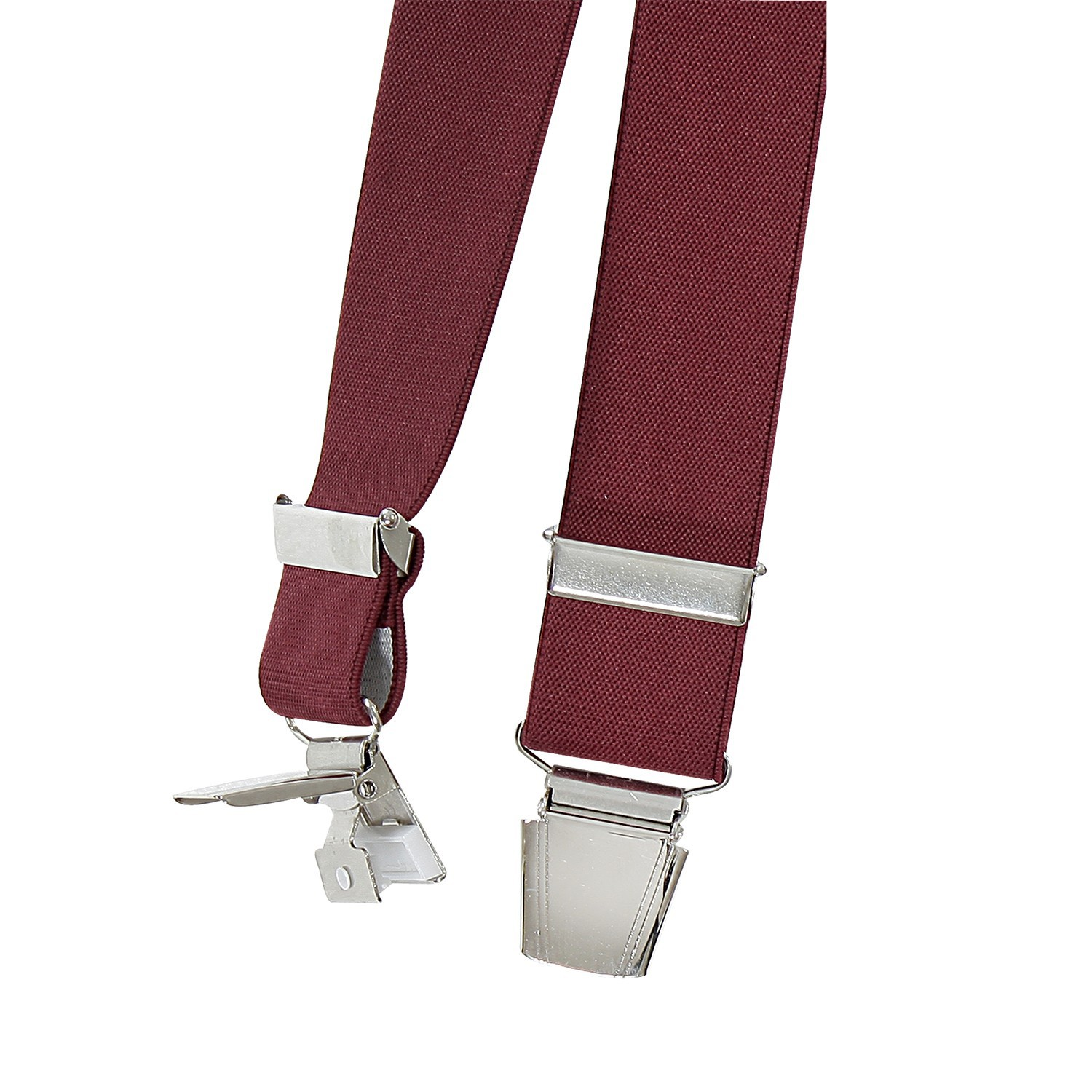 Detail Image to Braces in red with reinforced clips, extra wide and over length by Lindenmann