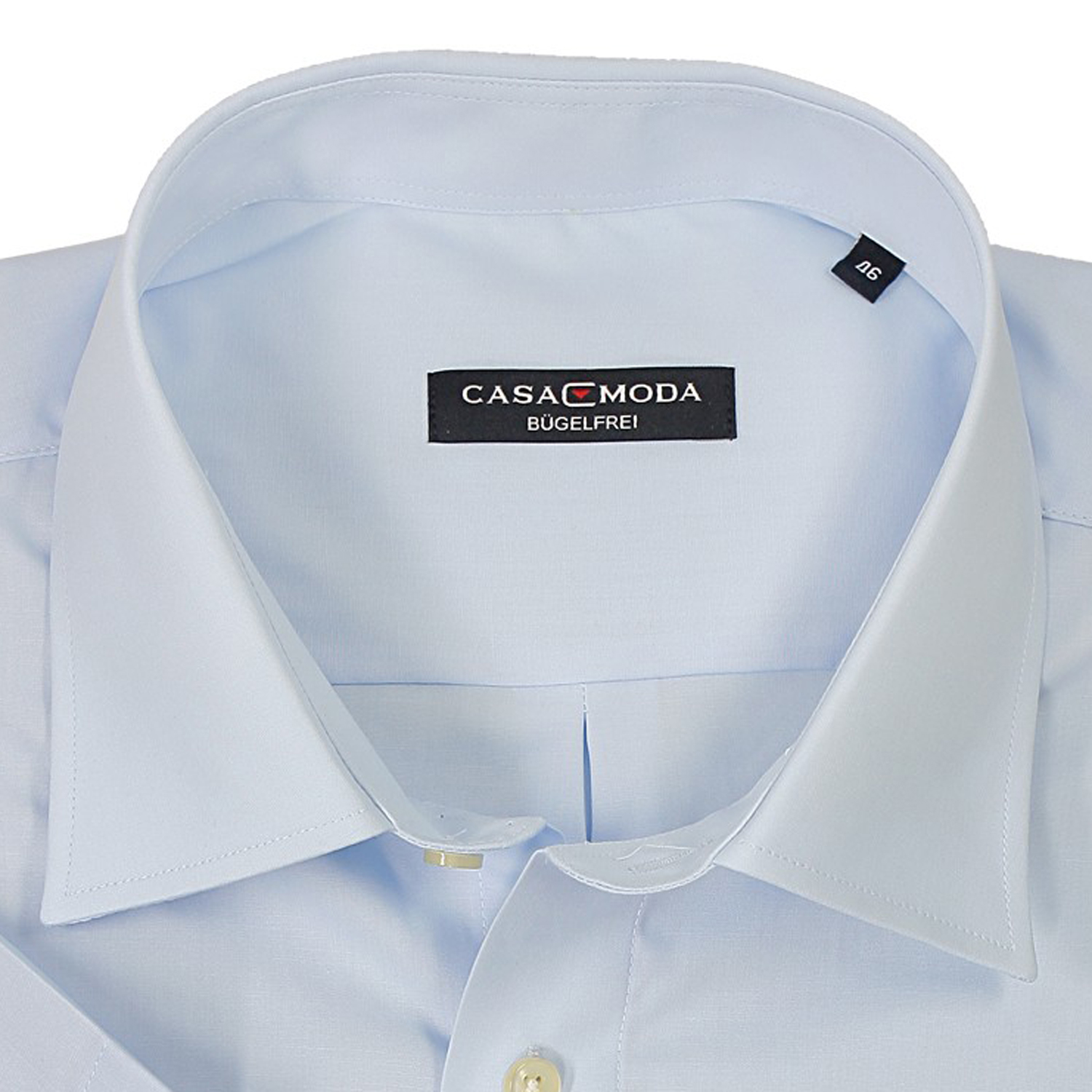 Detail Image to Light blue shirt short by Casamoda in plus size up to 7XL