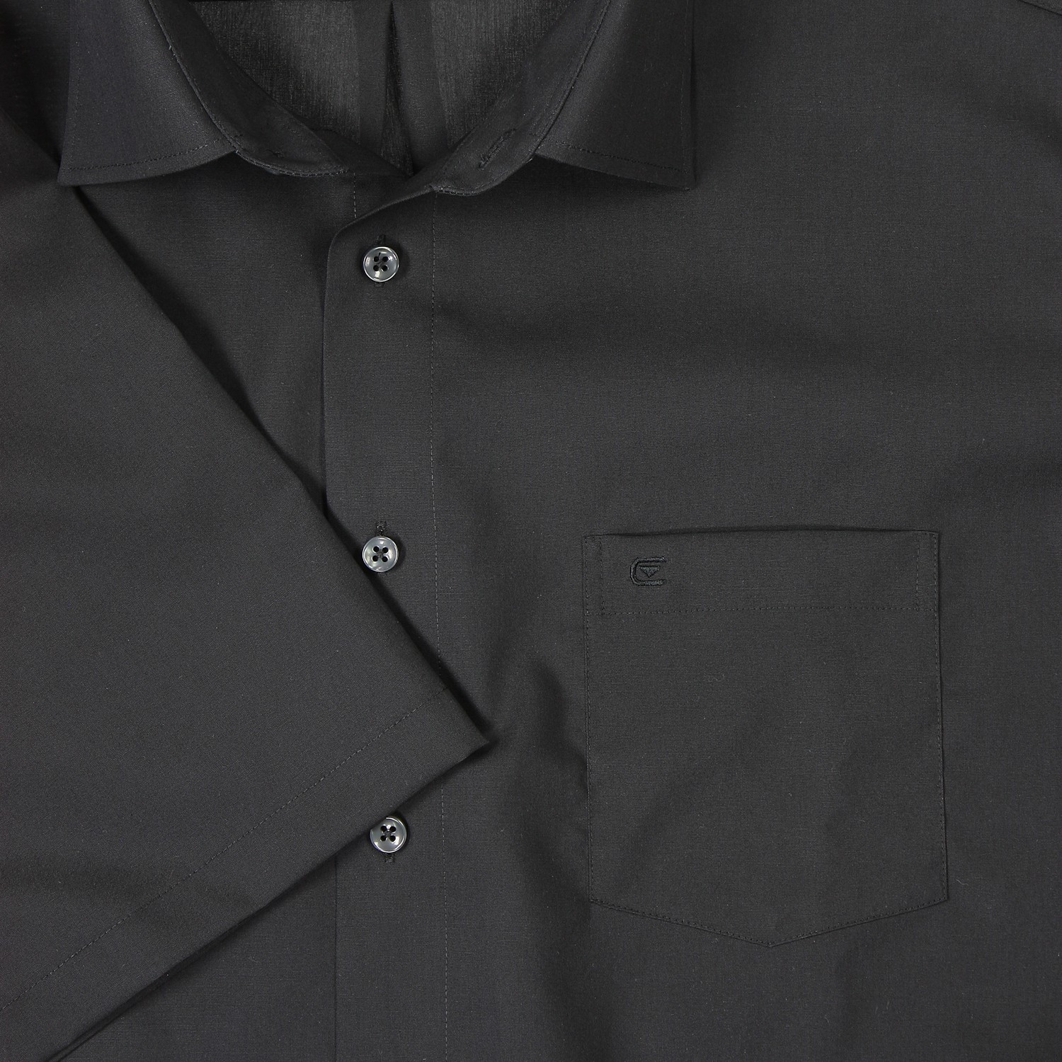 Detail Image to Black shirt short by Casamoda in plus size up to 7XL