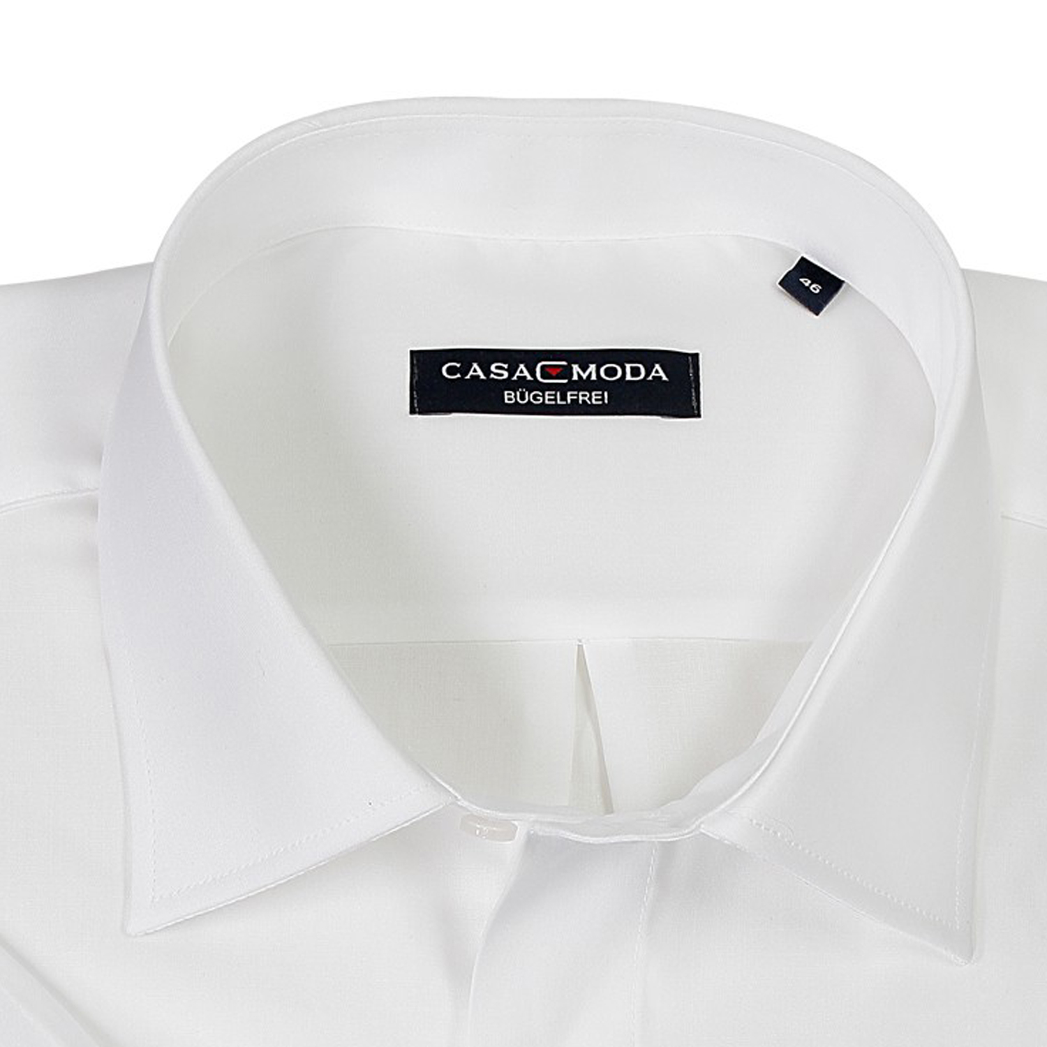 Detail Image to White shirt short by Casamoda in plus size up to 7XL