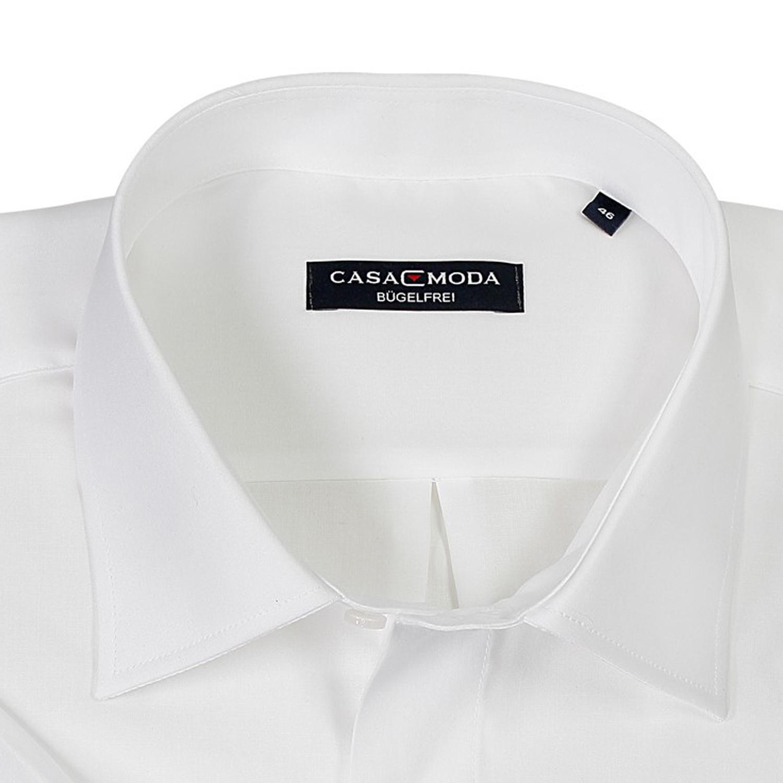 Detailbild zu Weißes kurzärmeliges Hemd Casamoda in Übergrößen bis 7XL