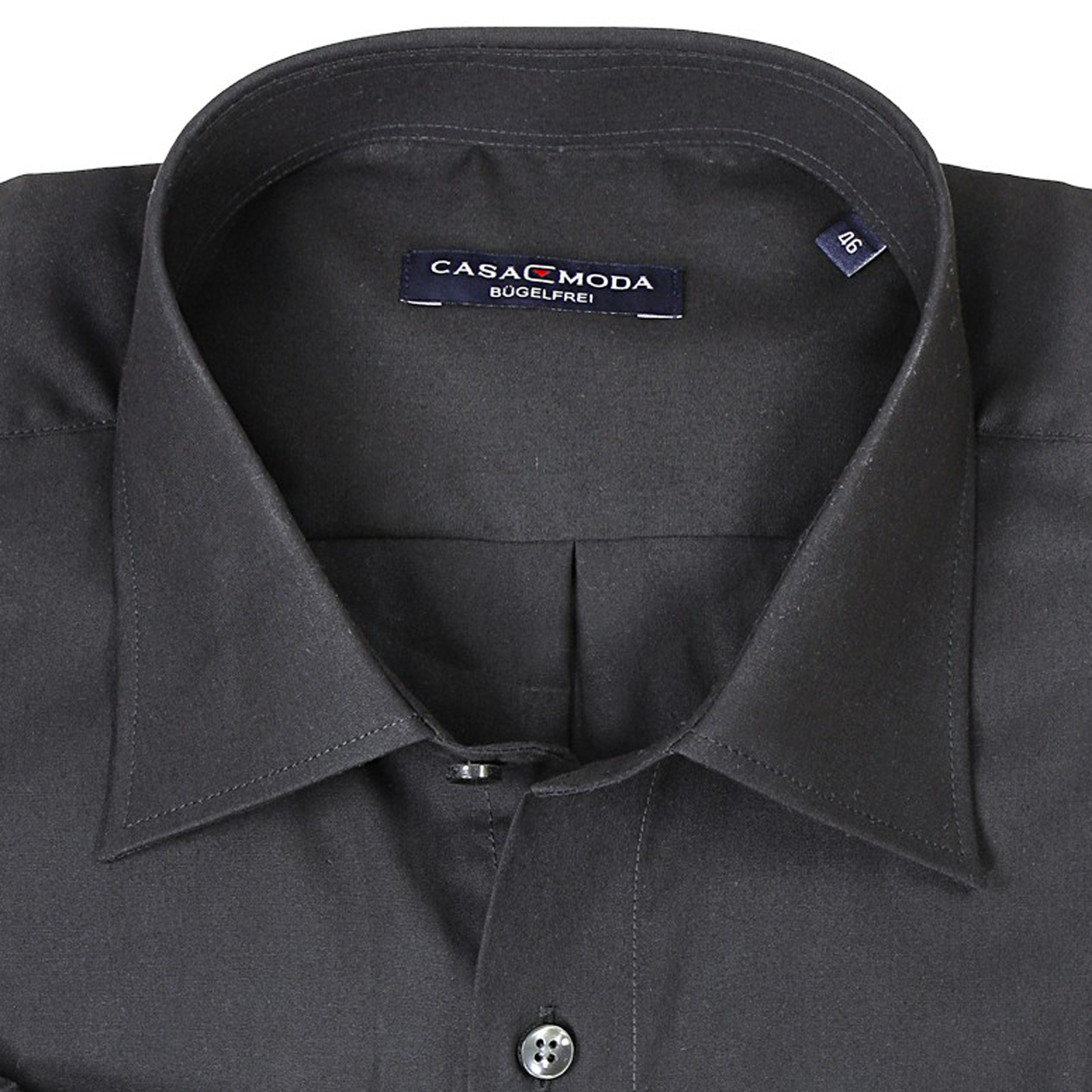 Detail Image to Dark gray shirt by Casamoda in plus size up to 7XL