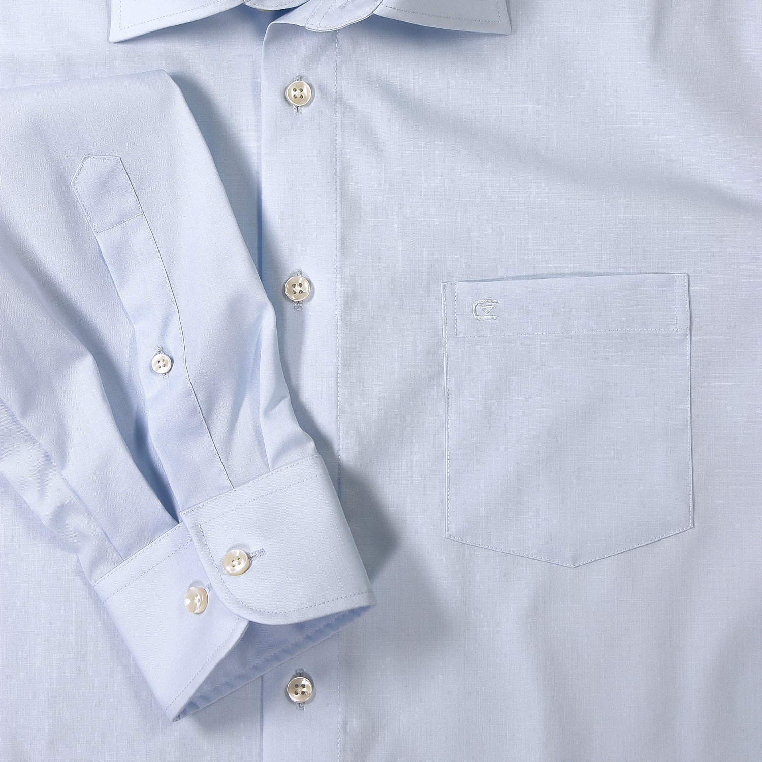 Detail Image to Light blue shirt by Casamoda in plus size up to 7XL