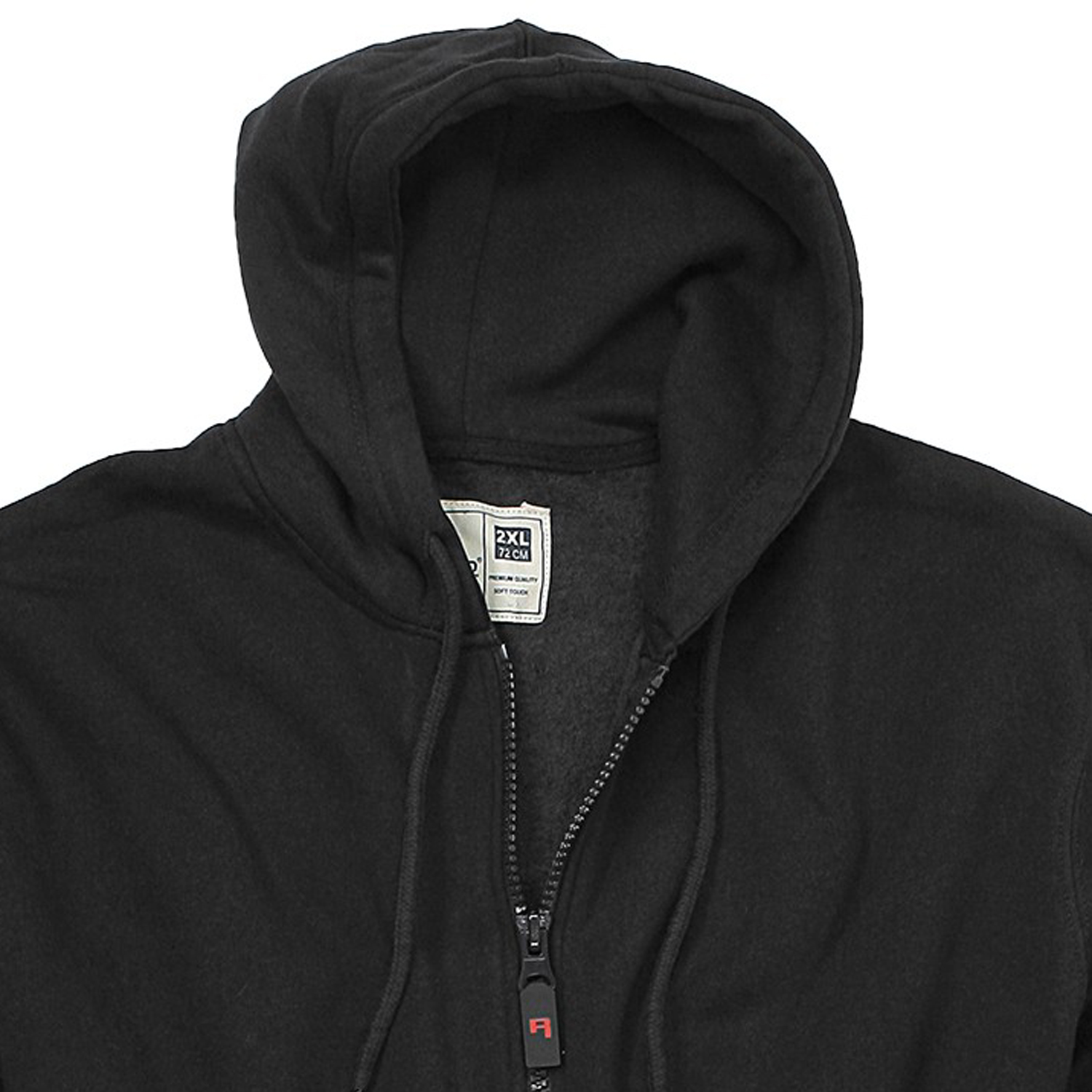 Detail Image to Hoody jacket model CANTOR in black from Rockford in king sizes up to 8XL