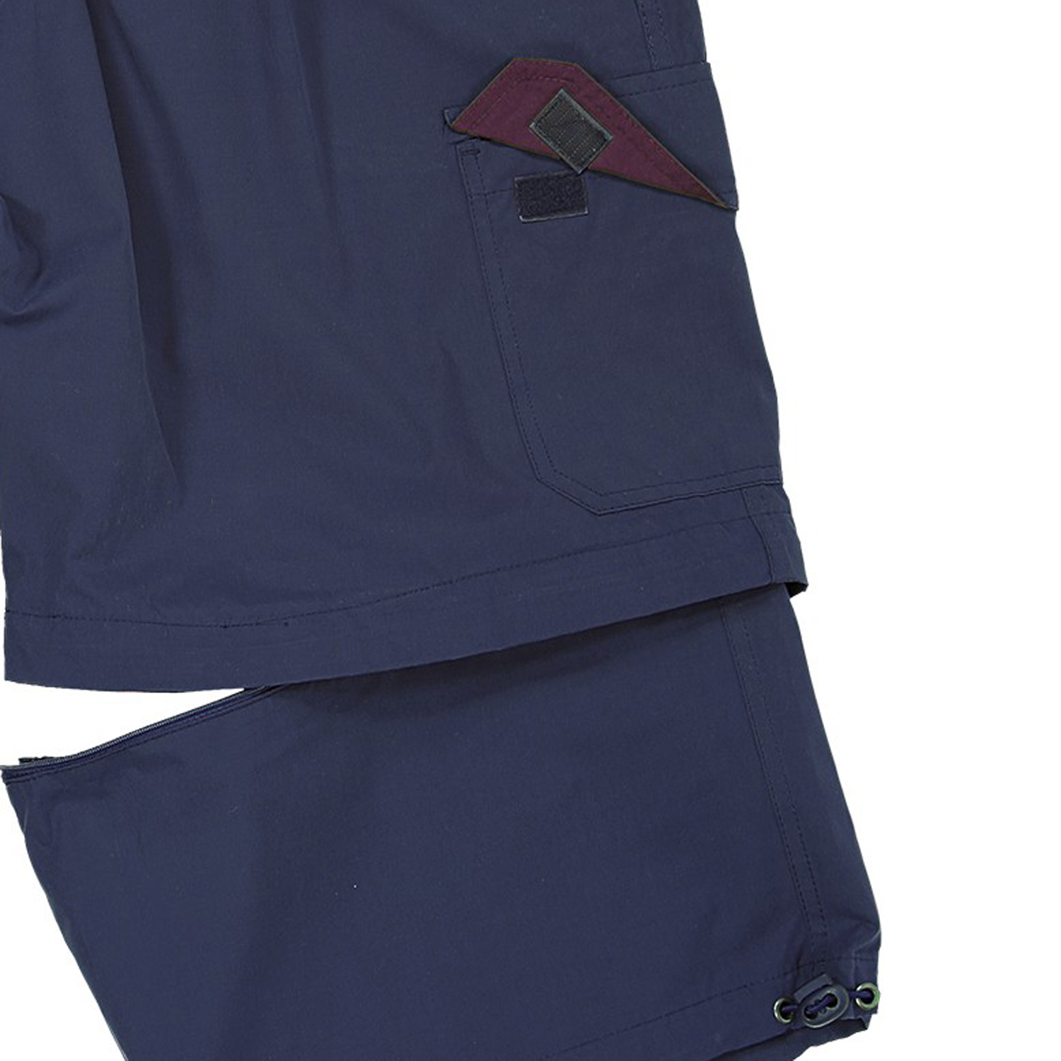 Detail Image to Zip-off-cargo-bermuda in navy by Abraxas in large sizes up to 10XL
