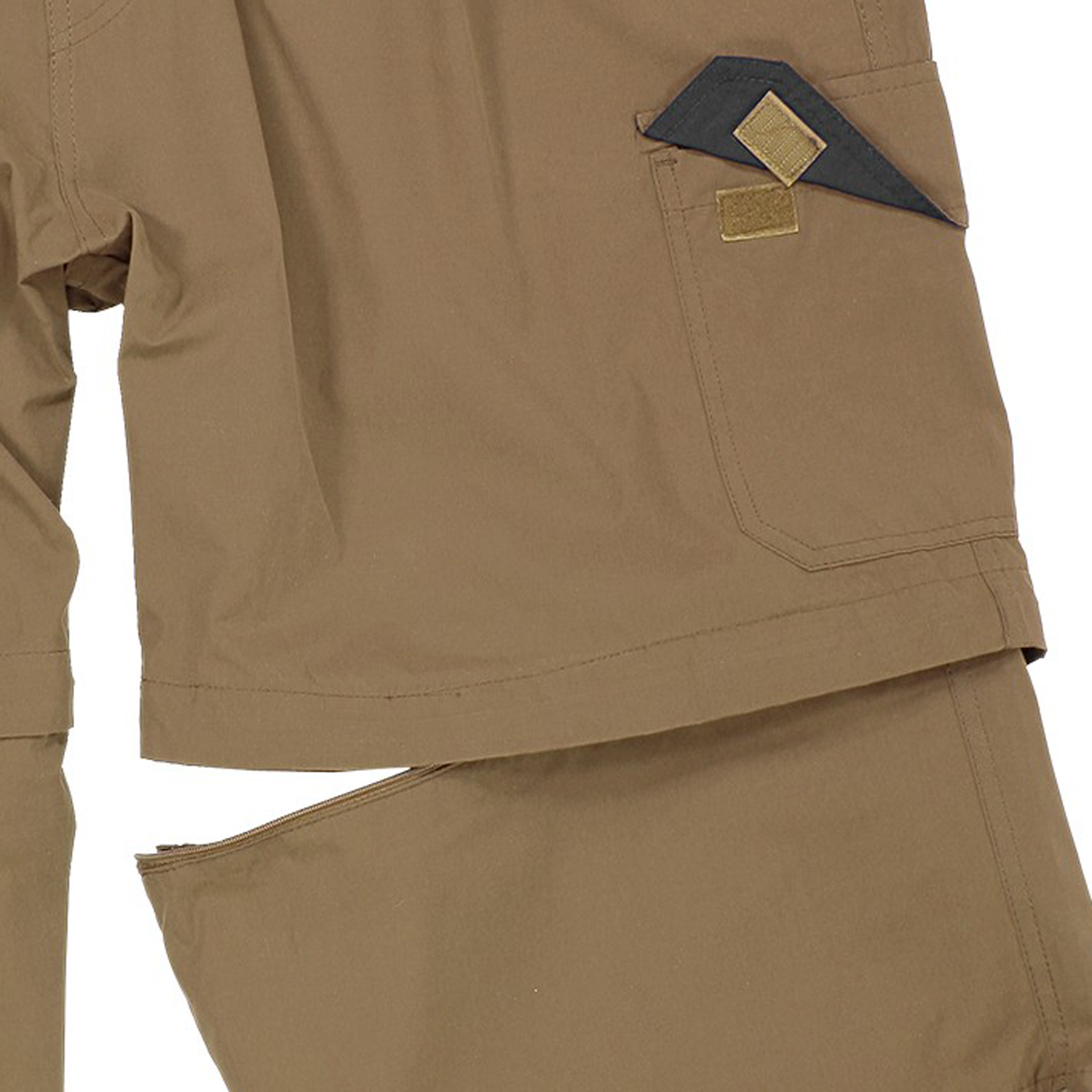 Detail Image to Zip-off-Cargo-Bermuda in khaki by Abraxas in oversizes up to 10XL