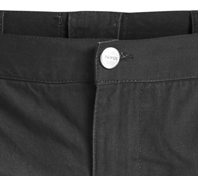 Detail Image to Black cargo shorts by North 56°4 in oversizes until 8XL