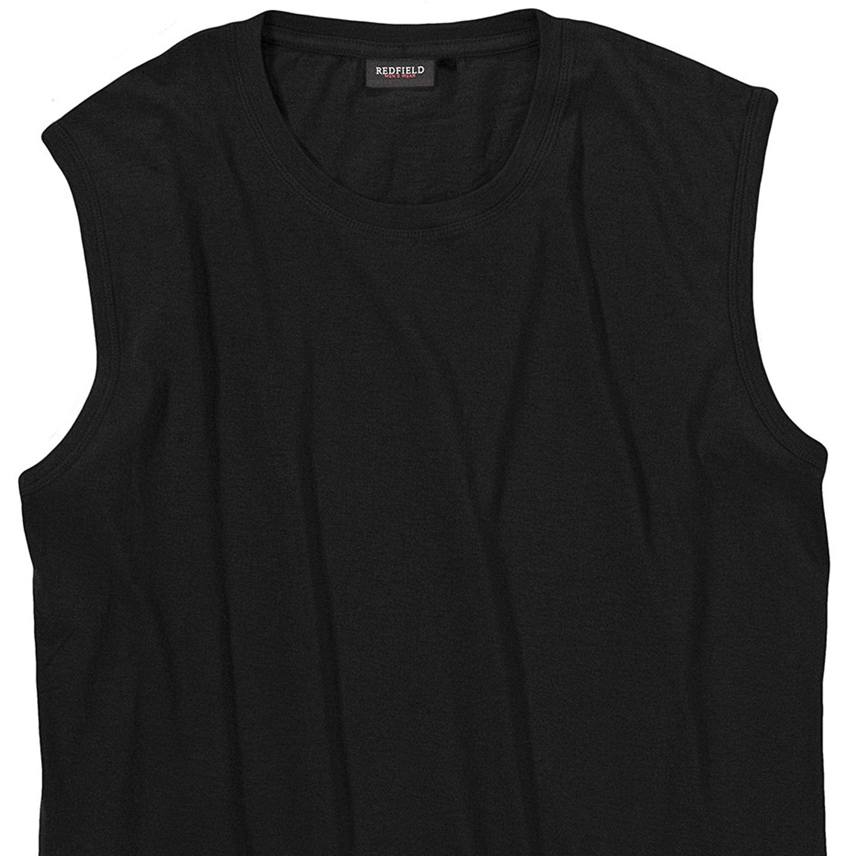Image de détail de T-shirt noir sans manches de Redfield grandes tailles jusqu'au 10XL