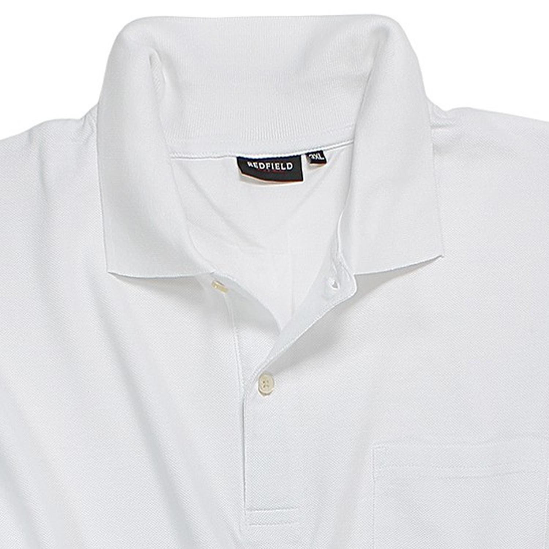 Detailbild zu Polo Shirt in weiß von Redfield in großen Größen bis 8XL